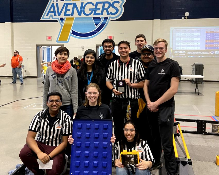 RoboJackets volunteering at an FRC event
