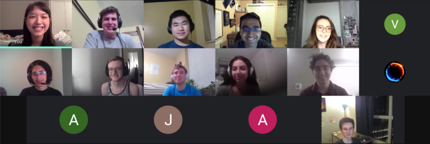 Group call as part of leadership retreat